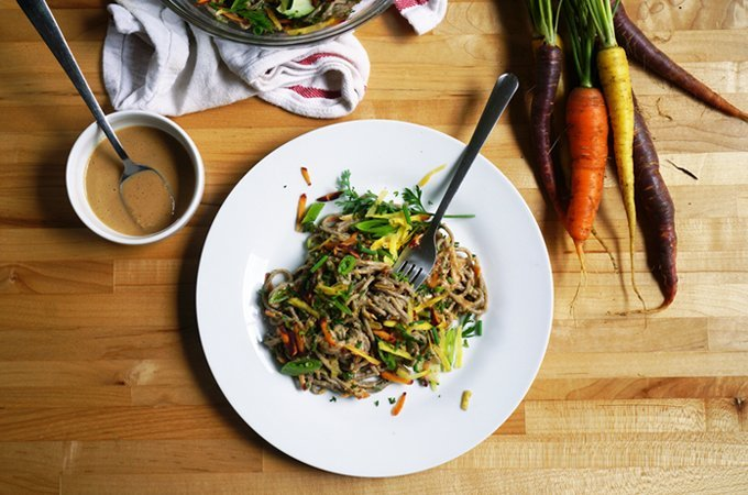 12Carrot & Peanut Butter Noodle Salad by What's in Season with Des